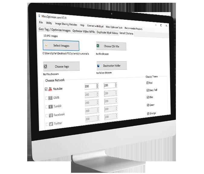 Mass Optimizer MP4 YouTube Video Duplicator Software